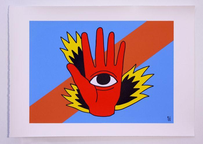 Fight. Ricardo Cavolo. Gunter Gallery. Printed in Ora Labora Studio. Serigrafía. Serigraphy.