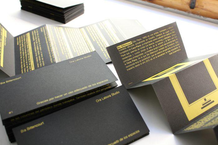 Catálogo exposición. Bia Bittencourt. Ora Labora Studio.