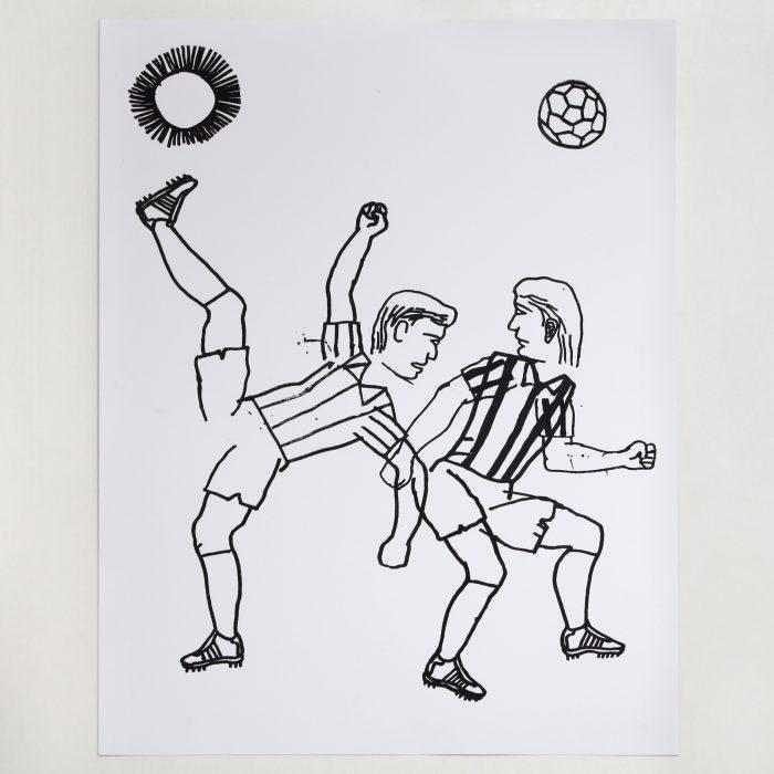 Fútbol. Football. Serigrafía. Serigraphy. Eloy Arribas. Printed in Ora Labora Studio.