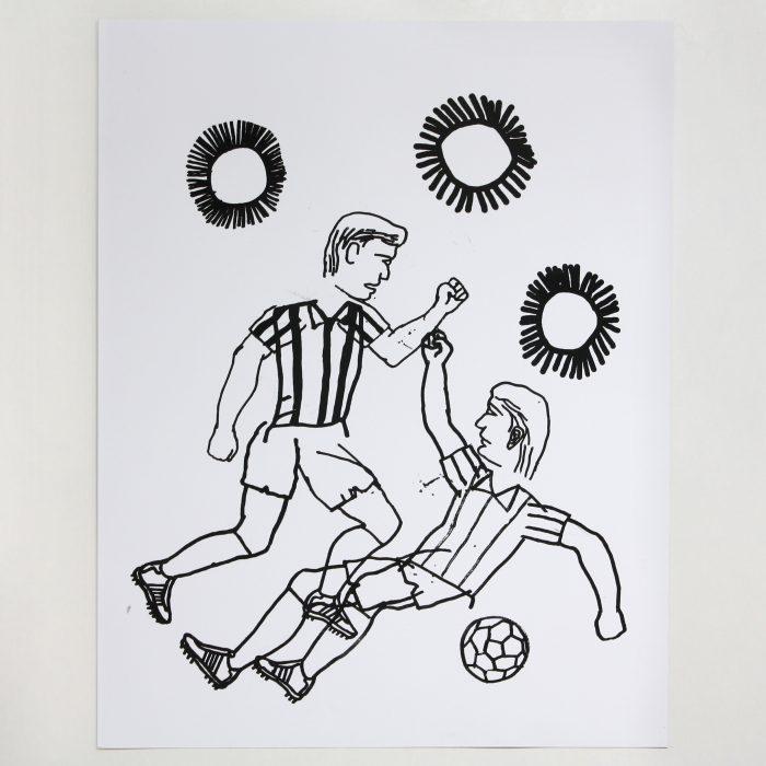 Fútbol. Football. Eloy Arribas. Serigrafía. Serigraphy. Printed in Ora Labora Studio.