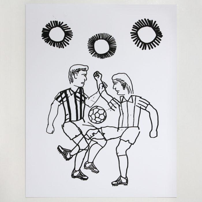 Fútbol. Serigrafía. Exposición Fútbol de Eloy Arribas en Ora Labora Studio.