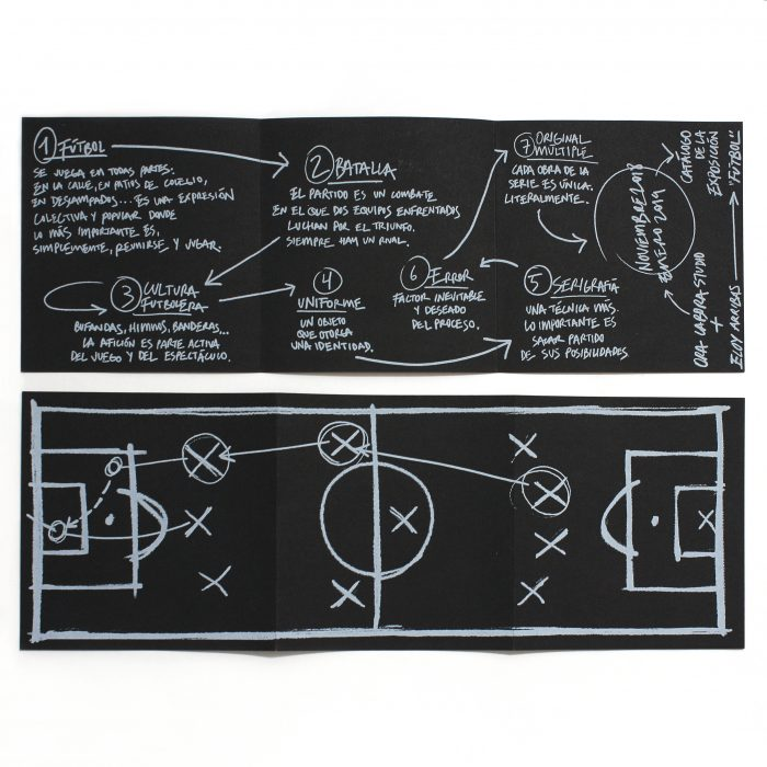 Catálogo exposición. Fútbol. Eloy Arribas. Ora Labora Studio.
