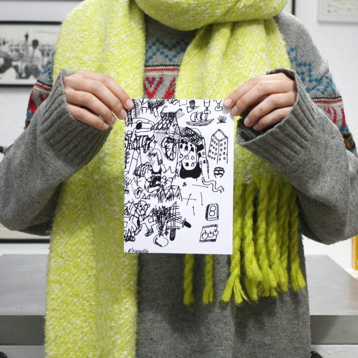 Juan Narowé. Las Mesas. Edición y comisariado por Ora Labora Studio. Serigrafía. Diseño de catálogo.